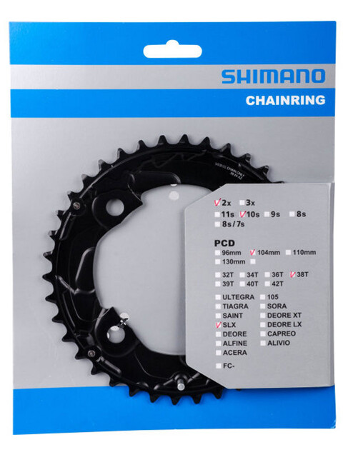 Shimano SLX FC-M677 Klinge 10-fag sort